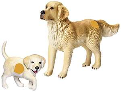 Ravensburger tip toi - 2 Spielfiguren: Golden Retriever Hund mit Welpe für 3,94€ als [Amazon Plusprodukt]