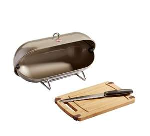 """Wesco Brotbox """"Breadboy"""" mit Schneidebrett und und Brotmesser für 33,94€ bei [XXXL]"""