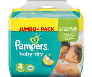 Pampers Baby Dry Jumbo+ alle Größen [Rossmann+App]