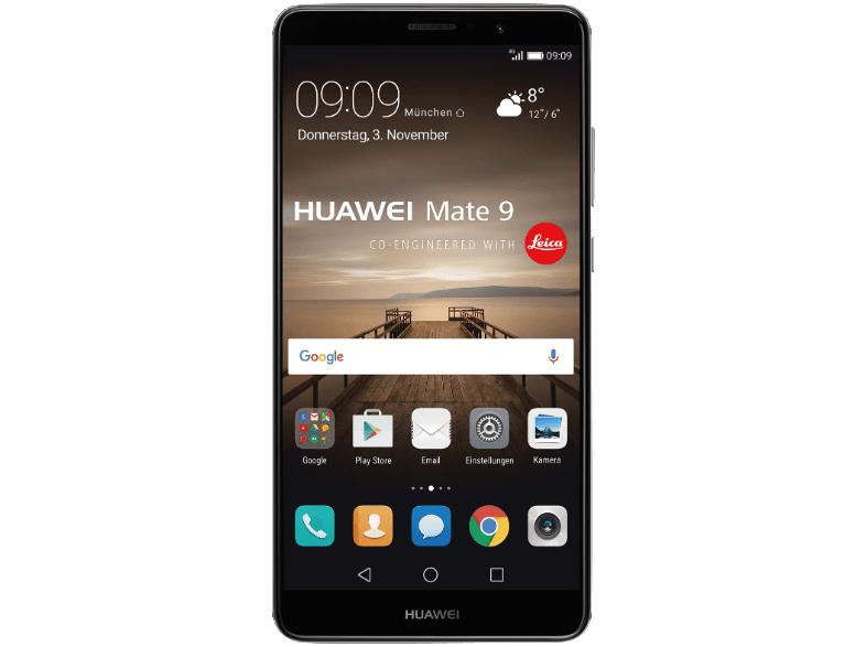 Huawei Mate 9 LTE-Dual-SIM Smartphone 15 cm (5.9 Zoll) 2.4 GHz Octa Core 64 GB 20 Mio. Pixel, 12 Mio. Pixel Android 7.0 Nougat alle 3 Farben für je 444,-€ bei Abholung [Mediamarkt Schnapp des Tages 2]