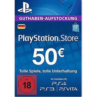 PSN Playstation 50 € Guthaben
