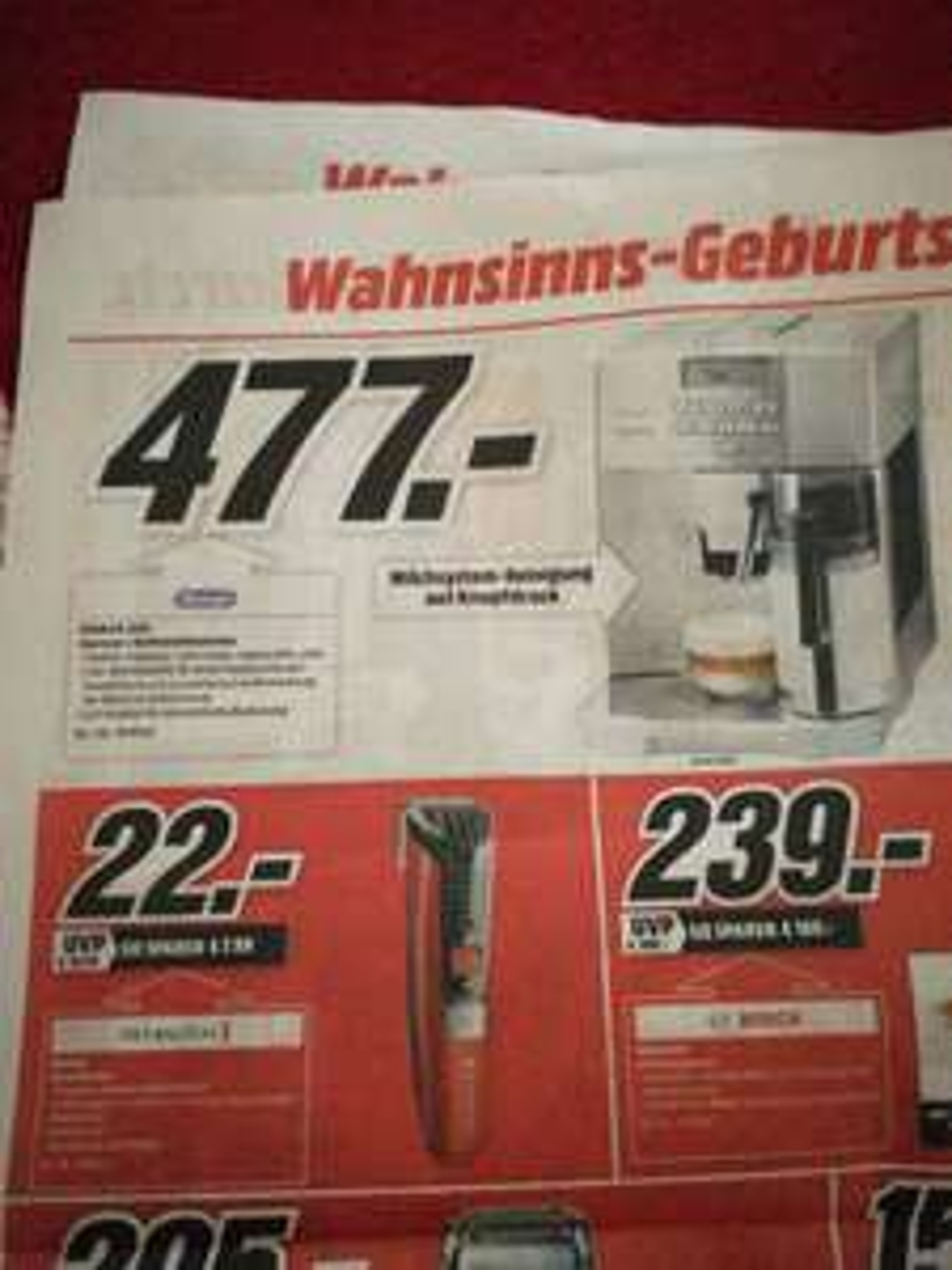 477,00€ Kaffeevollautomat ESAM 04.350S Media Markt Heilbronn