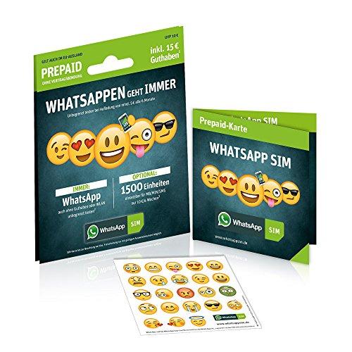 WhatsApp Sim mit 5€ Guthaben + 1500 Einheiten für 3€ [Amazon Prime only]