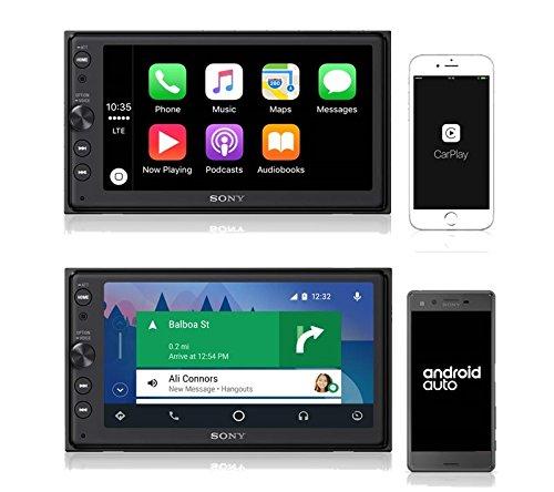 Sony XAV-AX100 16,3 cm (6,4 Zoll) Media Receiver (mit Bluetooth, Apple CarPlay und Android Auto, Navigation, Spotify, 2 DIN Autoradio AppRadio) @amazon Prime