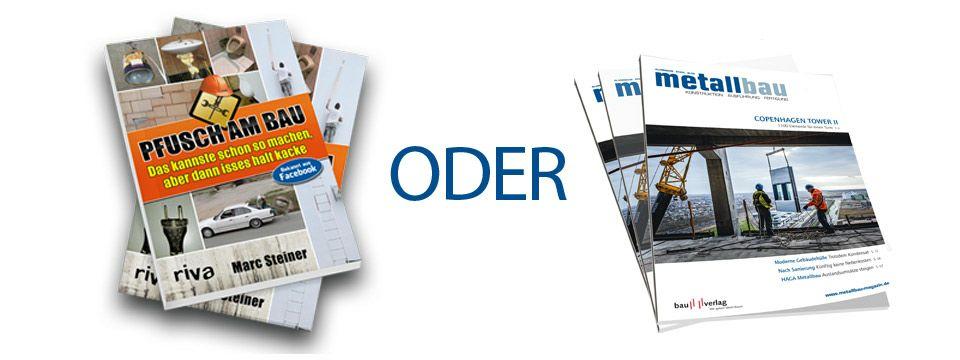 """Gratis Buch """" Pfusch am Bau"""" für Newsletter Registrierung."""