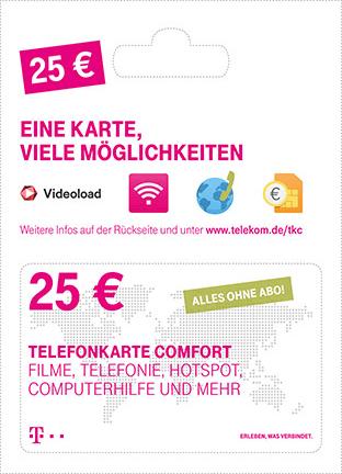 Telekom Comfort Karten 10% Extra-Guthaben (u.A zum Reduzieren der Festnetzrechnung)