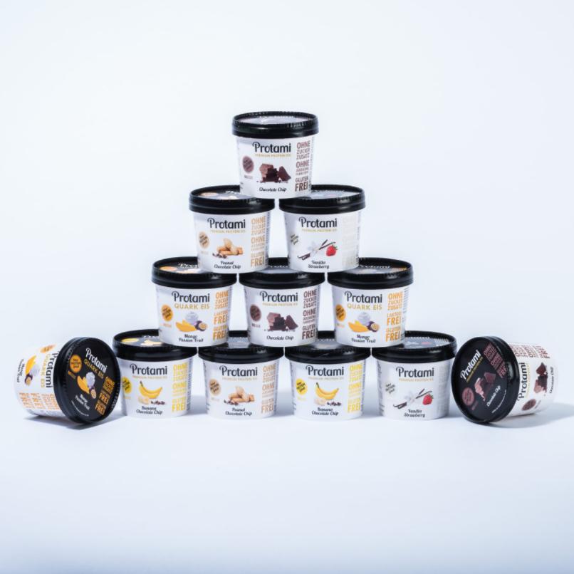 Protami Protein-Eis ohne Zuckerzusatz mit bis zu 40% Rabatt + 20% Extra-Rabatt – z.B. 12er-Box für 30,99€