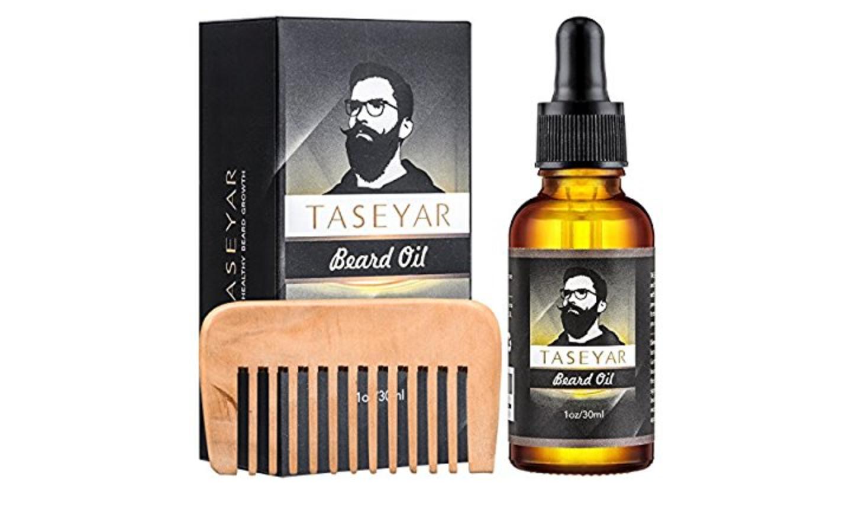 Bartöl mit dem Kamm Set, TASEYAR Natürliches pflegendes Bartöl (44 %reduziert)