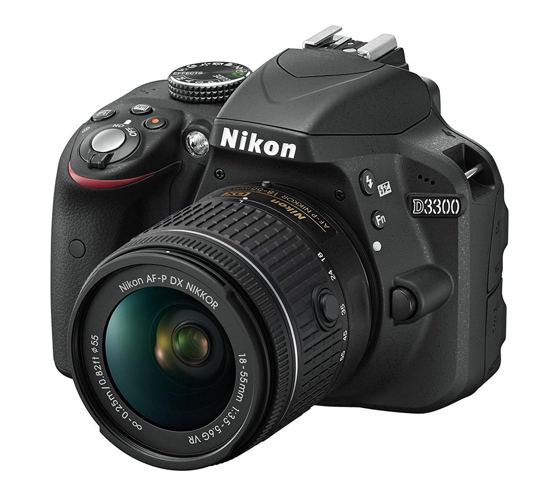 "(@Dealclub) Nikon D3300 SLR-Digitalkamera Kit AF-P 18-55 VR in schwarz ""mit polnischem Handbuch"" (+3% shoop)"