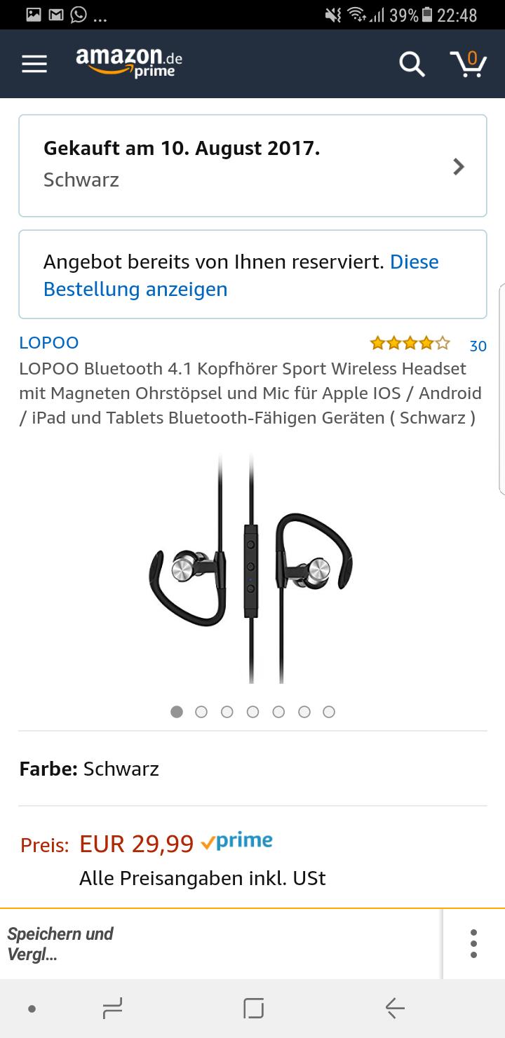 Kostenlose 4.1 Bluetooth Kopfhörer amazon