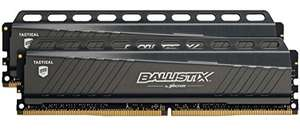 [Amazon.de] Crucial Ballistix Tactical 16GB Kit (8GBx2) DDR4 2666 MT/s (PC4-21300) DIMM 288-Pin Memory - BLT2C8G4D26AFTA
