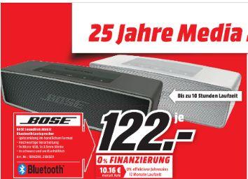 [Lokal Mediamarkt Bielefeld] BOSE SoundLink Mini II Bluetooth Lautsprecher in 2 Farben für je 122,-€