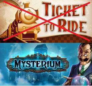 [Steam]  Mysterium + Ticket to Ride @ Asmodee.net