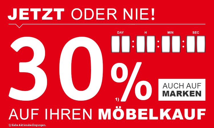 XXXL Möbelhaus 30% auf Möbelkauf
