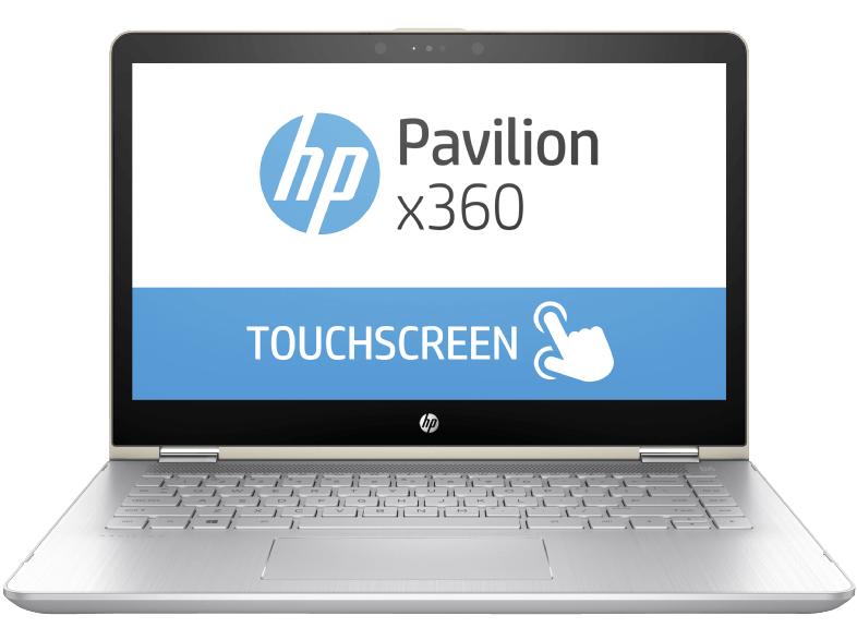 [Saturn] HP Pavilion x360 - 14-ba030ng, Convertible mit 14 Zoll, 1 TB Speicher, 8 GB RAM, Core i3 Prozessor, Windows 10 Home (64 Bit), Silber, Schwarz Notebooks