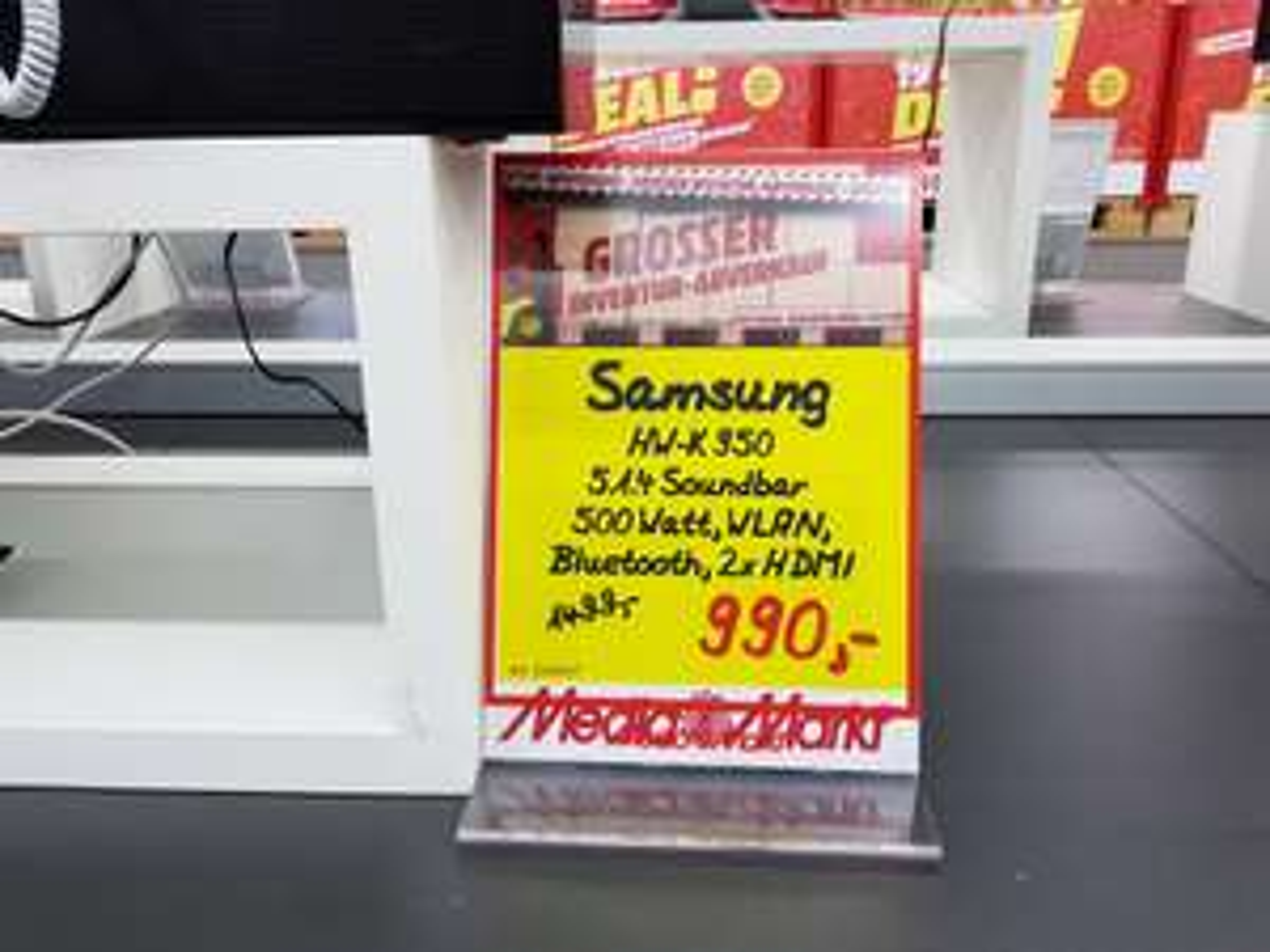[LOKAL GÜTERSLOH] Media Markt - Samsung Dolby Atmos HW-K 950 für 990 €