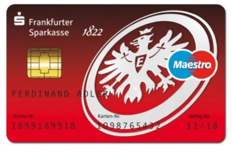 Frankfurter Sparkasse, Kostenloser Austausch der Girokarte gegen AdlerCard (SGE, Eintracht Frankfurt)