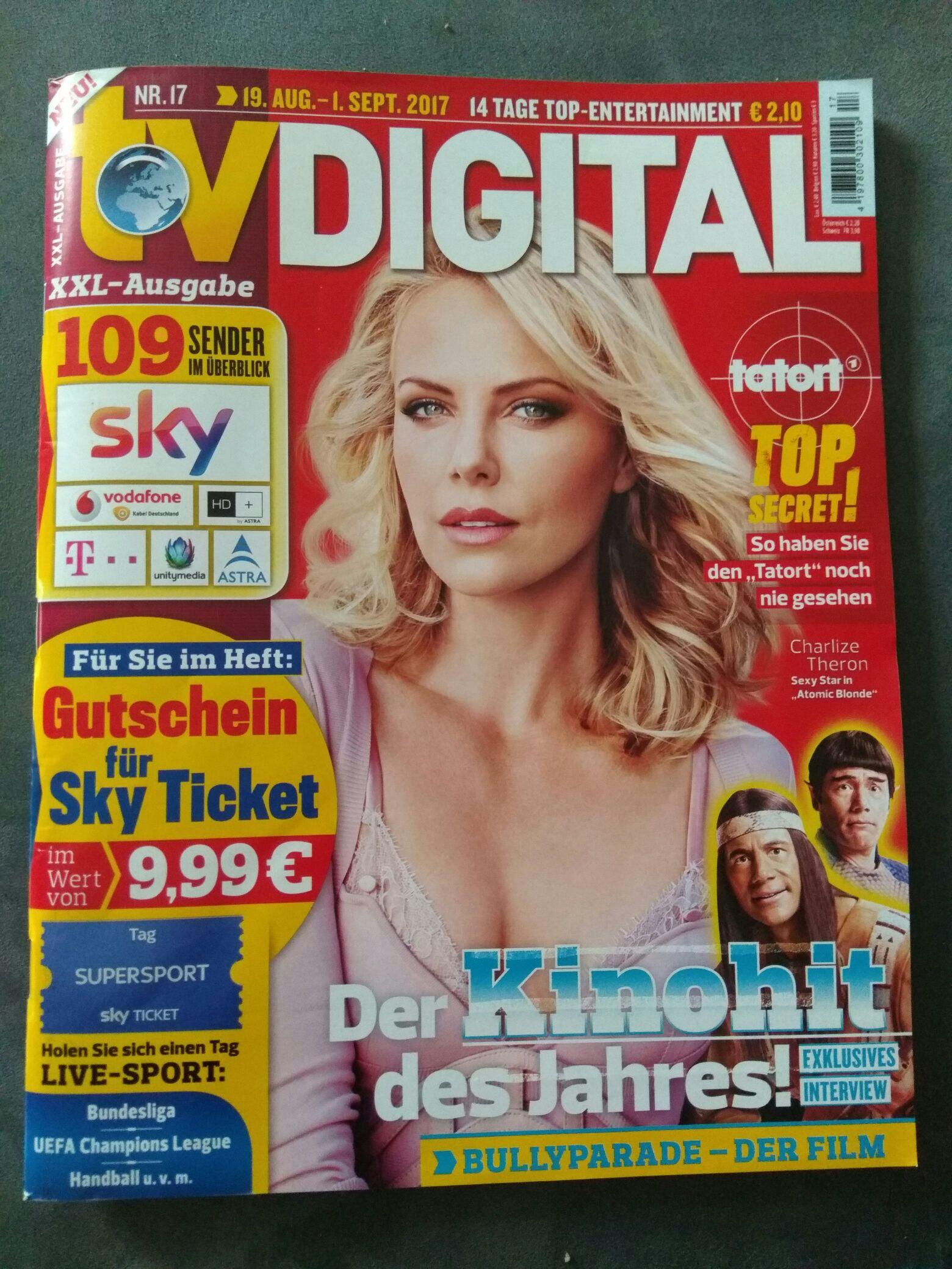 Gutschein für Sky Ticket (nur Neukunden) im Wert von 9,99€ in der aktuellen TV Digital
