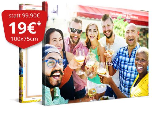 MeinXXL Fotoleinwand 100×75cm |weitere Größen|Freunde/Sommer