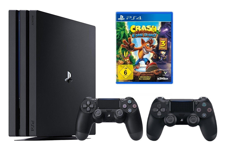[Ebay Saturn] PlayStation 4 PS4 Pro 1TB schwarz CUH-7016B + 2 Controller schwarz (V2) inkl. Crash Bandicoot für 389€