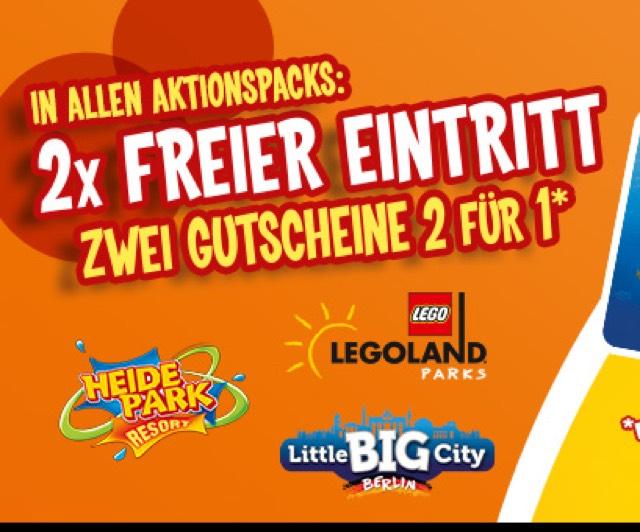 Monte mit 2x 2 für 1 Coupons (Sea Life, Legoland, Heidepark, Gardaland, Madame Tussauds, Dungeon, etc)