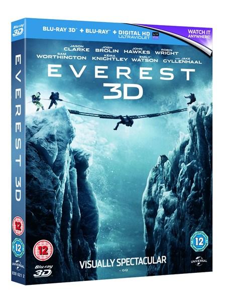 Everest (3D Blu-ray + Blu-ray + UV Copy) für 8€ (Zoom.co.uk)