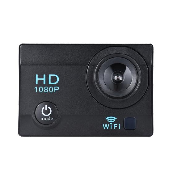 """Actioncam mit 2"""" LCD, 12MP, 1080P, WiFi und Zubehör"""
