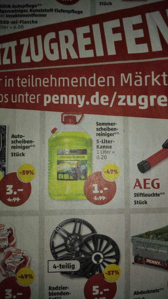 5L Sommer-Scheibenreiniger für 1€ bei Penny (ab 17.08)