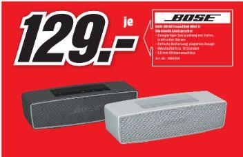[Lokal Mediamarkt Erlangen] BOSE SoundLink Mini II Bluetooth Lautsprecher in 2 Farben für je 129,-€