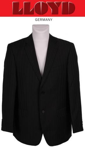 LLOYD Anzug Super 120 Wolle, anthrazit blau mit Streifen