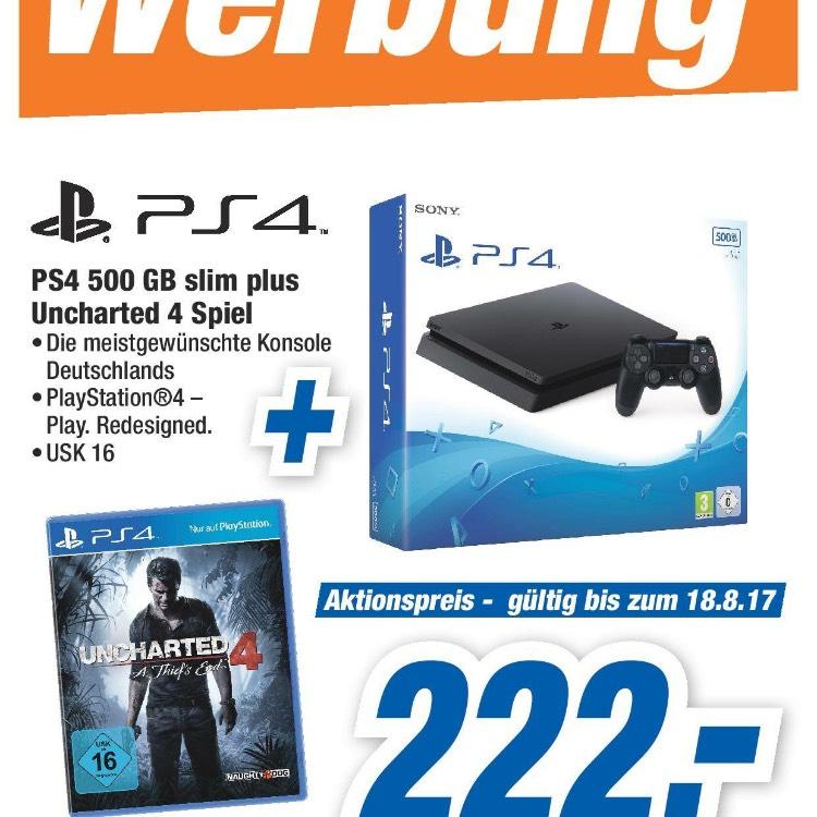 Nur Lokal? Expert Tevi Landshut - PlayStation 4 Slim 500gb + Uncharted 4 für 222€