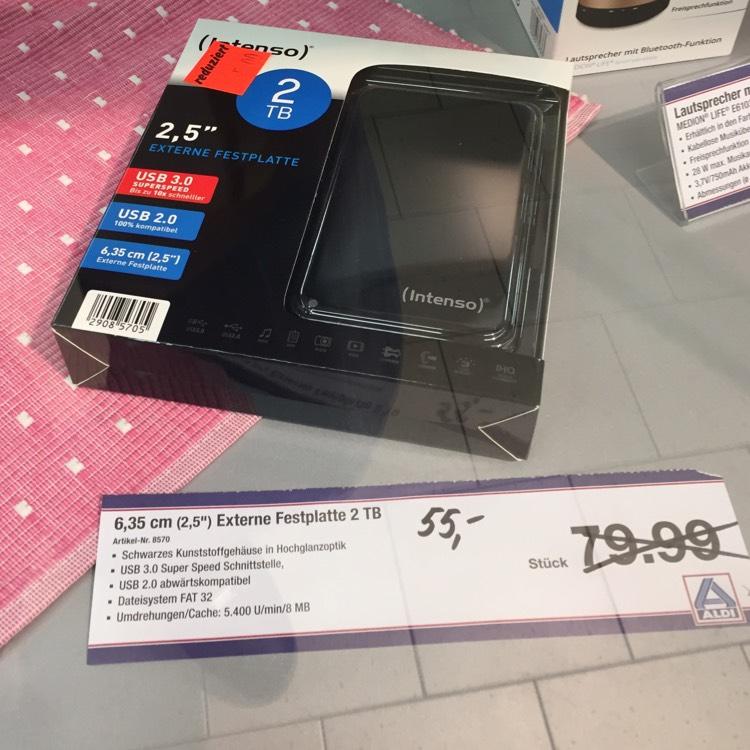 55€ Intenso 2TB 2,5'' USB 3.0 [Aldi Nord] Velbert