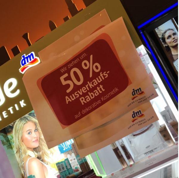 [LOKAL Mall of Berlin] dm: 20% auf alles + 50% auf dekorative Kosmetik