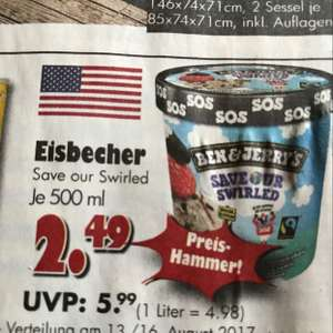 "[Jawoll] Ben&Jerry's 500ml Eisbecher ""Save our Swirled"""