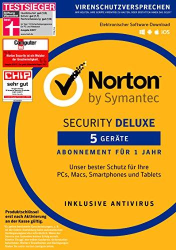[Amazon] Norton Security Deluxe   5 Geräte   PC/Mac/Smartphone/Tablet   Download