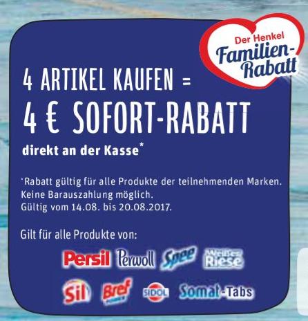 4 Artikel Kaufen --> 4€ Sofort Rabatt  REWE