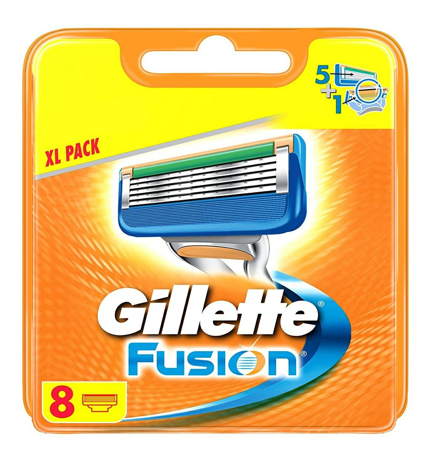 Amazon Prime SparAbo + Rabatt GS Gillette Fusion Rasierklingen (Für Männer) 8 Stück, briefkastenfähige Verpackung