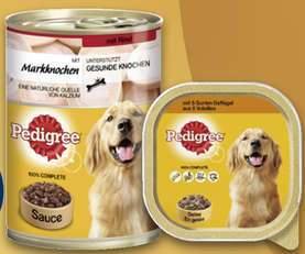 8x Pedigree Hunde-Nassnahrung versch. Sorten 300/400g-Schalen für 0,53€/Stück [Real]