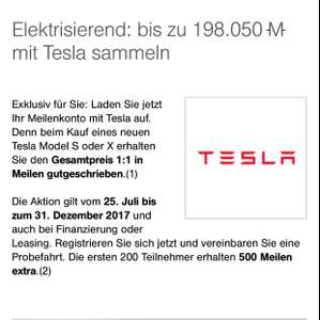 """Tesla T Ξ S L A """"Rabatt"""""""