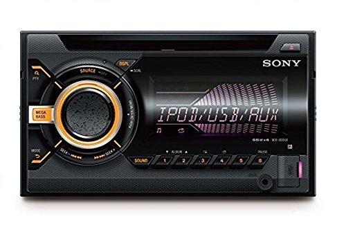 Sony WX-900BT 2 DIN CD Autoradio (NFC Bluetooth, USB und AUX Anschluss, Apple iPod/iPhone Control Funktion) für Radio/MP3/WMA/FLAC schwarz