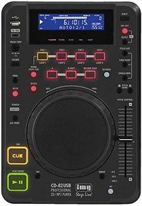 """Tabletop-DJ- CD/ MP3-Spieler IMG Stage Line CD-82USB mit USB2.0-Schnittstelle, """"Anti-Schock-System"""" und DSP-Effekteinheit //Idealo 299€"""