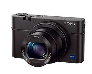Sony DSC-RX100 IV Digitalkamera (21 Megapixel, 3-fach opt Zoom, 11-fach digital Zoom, 7,6 cm (3 Zoll) Display, Pop-Up-Sucher, 24-70 mm ZEISS Vario-Sonnar T) schwarz