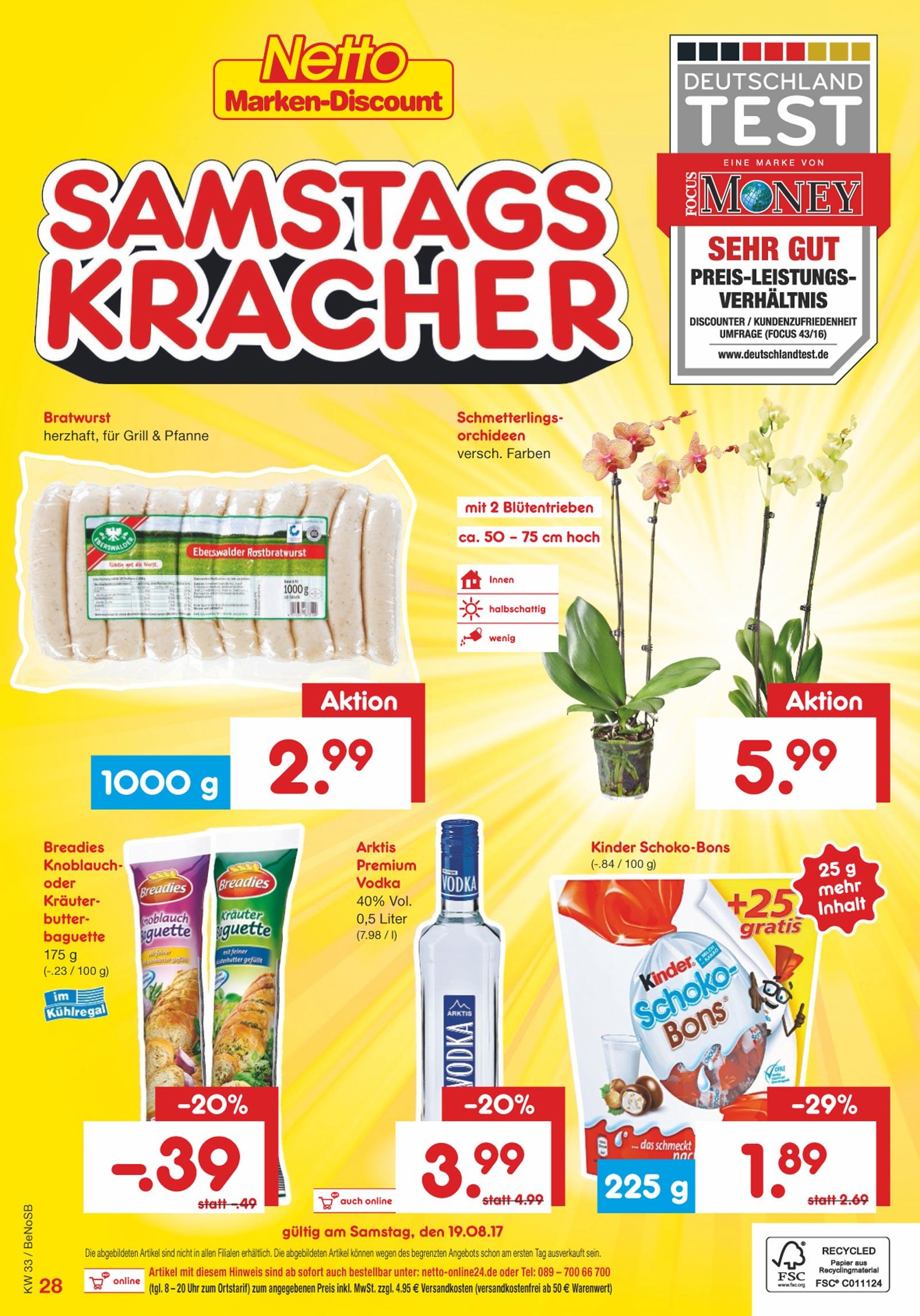 Netto Marken-Discount - Schmetterlingsorchidee (Phalaenopsis) 5,99 € am 19.08.2017