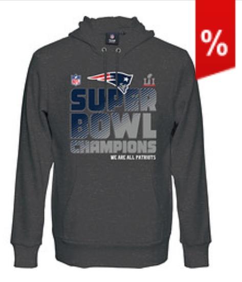 [Amazon] NFL New England Patriots Super Bowl 51 Champions Hoodie 34,50€ statt 65€