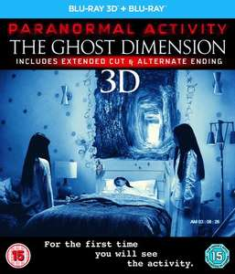 Paranormal Activity: The Ghost Dimension (3D Blu-ray + 2D Version) für 5€ (Zoom.co.uk)