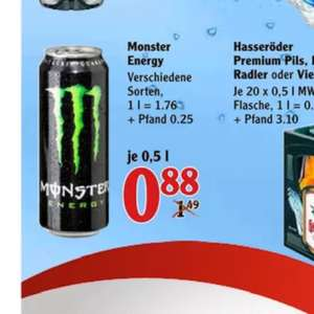 [Globus; Lokal Hockenheim?] Monster für 0,88€ zzgl. Pfand