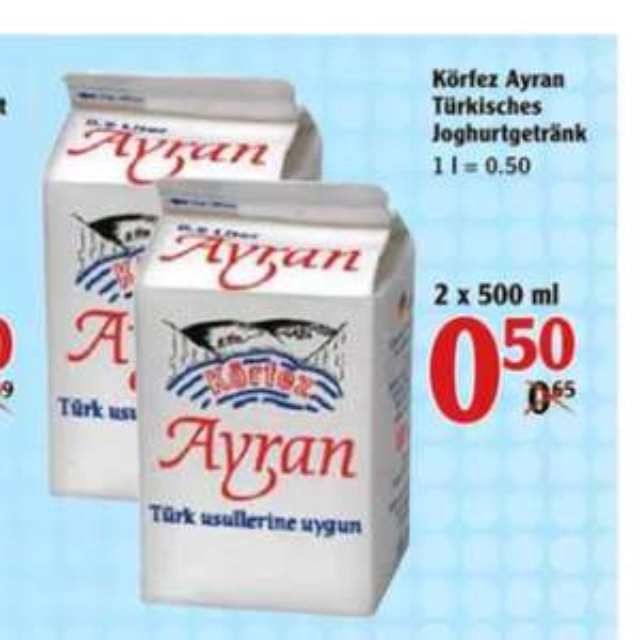 [Globus, bis 20.08.] 1l Ayran für 0,50€