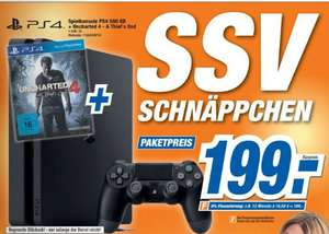 [Lokal Expert Bielinsky] Sony PlayStation 4 (PS4) Slim 500GB inc. Uncharted 4 für 199,-€