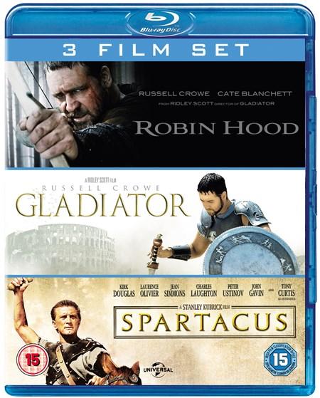 Robin Hood + Gladiator + Spartacus (3x Blu-ray) für 10€ (Zoom.co.uk)