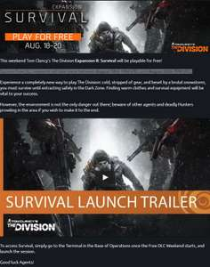 The Division Expansion II: Survival DLC - free weekend (18. - 20.08.)